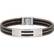 Jourdan bracelet homme acier caoutchouc fz 062 bijou pour homme jourdan en