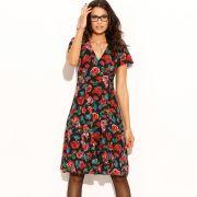 Robe imprimée à fleurs manches courtes femme votre mode