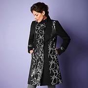Manteau brodé fils fantaisie - grande taille