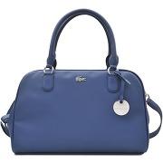 Sacs épaule femme sac bowling daily classic lacoste bleu