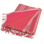 Promotion ! paréo-serviette rose fuschia et saumon clair by kasuku