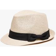 Gemo - chapeau effet paille avec ruban fantaisie - 54