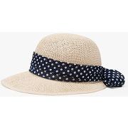 Gemo - chapeau avec ruban à pois - 58