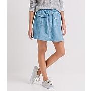 Jupe en jean femme jean clair - promod