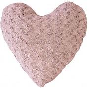 Coussin douceur coeur himalaya rose