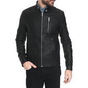 Vestes en cuir jack & jones pour homme - blouson faux cuir noir call
