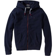 Sweat molleton zippé à capuche homme hilfiger denim