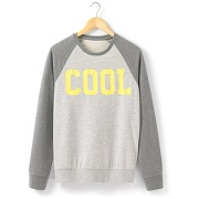 Sweat-shirt manches raglan gris - soft grey