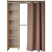Store kit d'aménagement de placard avec rideau l123cm