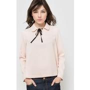 Soldes ! blouse col claudine, cordon - feminin - beige - r edition