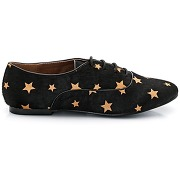 Derbies, façon poils de poulain, motif étoiles noir - mademoiselle r