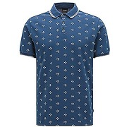 Polo slim fit facile d?entretien en coton à motif intégral : « beach polo shirt »