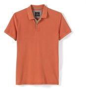 Soldes ! polo uni en piqué de coton - masculin - orange - quiksilver