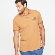 Soldes ! polo jersey brodé - masculin - beige - castaluna for men