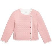 Veste matelassée à boutons pression - rose - fille - carrément beau