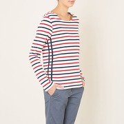 Soldes ! t-shirt marinière - feminin - beige - maison scotch