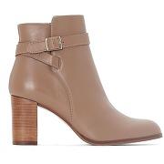 Soldes ! boots cuir akil - feminin - marron - jonak