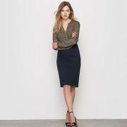 Soldes ! jupe crayon - feminin - bleu - la redoute collections