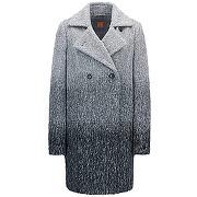 Manteau croisé décontracté en tissu à effet dégradé