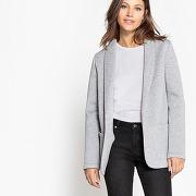 Soldes ! veste blazer maille - feminin - gris - la redoute collections
