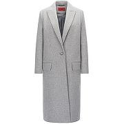 Manteau relaxed fit en laine mélangée