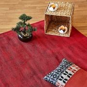 Tapis en viscose rouge - 120x170cm