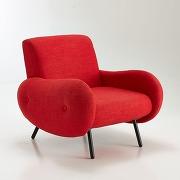 Soldes ! fauteuil vintage, watford - rouge - la redoute interieurs