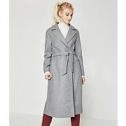 Manteau en drap de laine femme gris fonce - promod