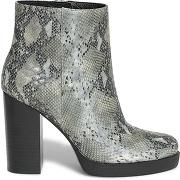 Boots gris imprimé python