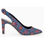 Soldes - escarpins pointus femme imprime multicolore - promod