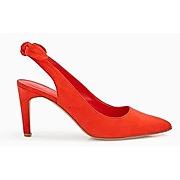 Soldes - escarpins pointus femme rouge - promod