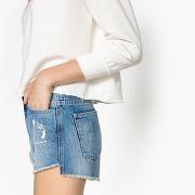 Short en jean avec ourlet brut stone
