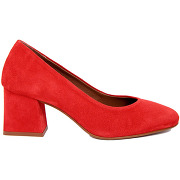 Gusto-femme-escarpins en velours de cuir maude rouges - talon 6 cm-t.38