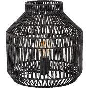 Lampe à poser en rotin noir d28xh30cm