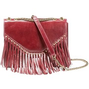 Sac besace à franges lucky dread rouge