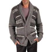 Cardigan jacquard gris