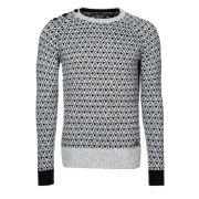 Matinique jacquardi pullover gris