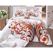 Linge de lit volutes et papillons - drap 180x290