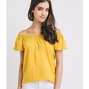 T-shirt epaules denudees femme jaune - promod