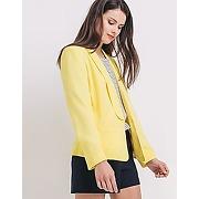 Veste de tailleur femme jaune citron - promod