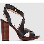 Sandales en cuir noir - laura clement