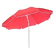 Parasol de plage inclinable traditionnel rouge