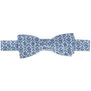 Noeuds papillon ullys - noeud papillon atlas en coton bleu motif géométrique