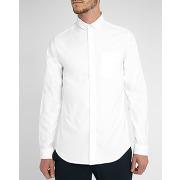Chemises classiques m.studio - chemise gabriel petit col button down oxford blanche extra slim