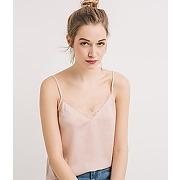Top lingerie soyeux femme rose pale - promod