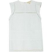 T-shirt broderie ajourée - blanc - femme - michael michael kors