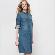 Soldes ! robe en jean - feminin - bleu - r essentiel