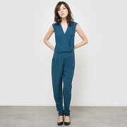 Soldes ! combipantalon manches courtes - feminin - bleu - r edition