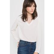 Soldes ! blouse encolure v - feminin - blanc - r edition