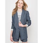 Soldes ! veste blazer - feminin - bleu - la redoute collections